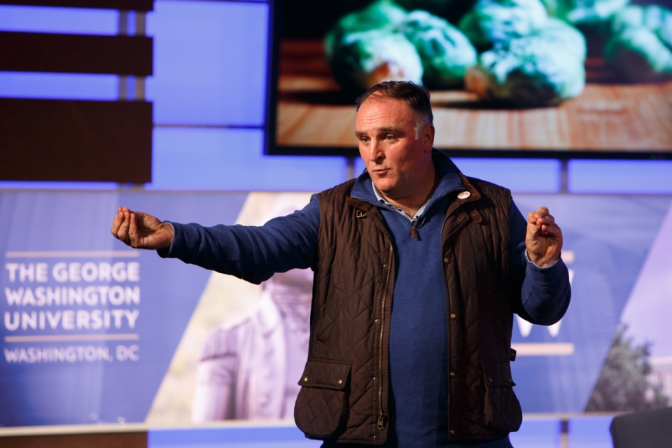 Chef José Andrés said that a sustainable food system will start with changing one dinner at a time.